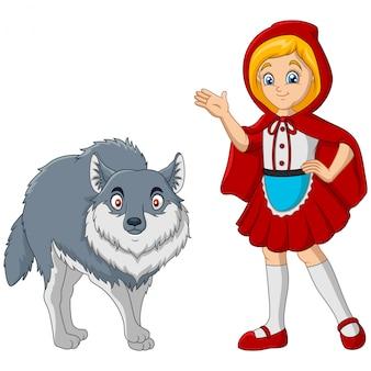 Chapeuzinho vermelho com lobo
