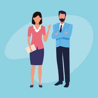 Charaters de trabalhadores de negócios executivos