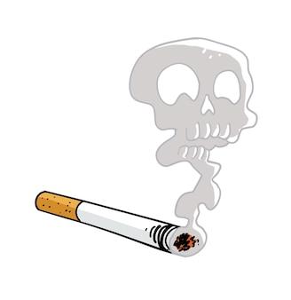Charuto com fumaça de caravela