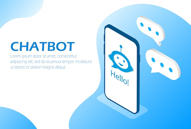 Chatbot. assistente on-line no telefone