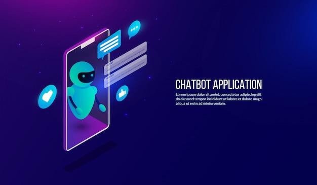 Chatbot de automação isométrica