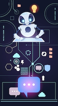 Chatbot robot technology, perguntas da resposta do bot de chatter