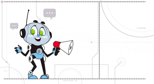 Chatbot segure megafone