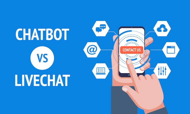 Chatbot vs livechat,