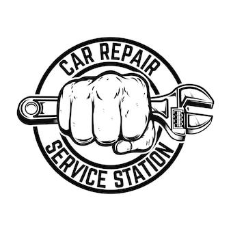 Chave ajustável para estação de serviço de conserto de automóveis