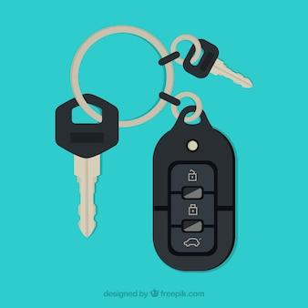 Chave do carro plano