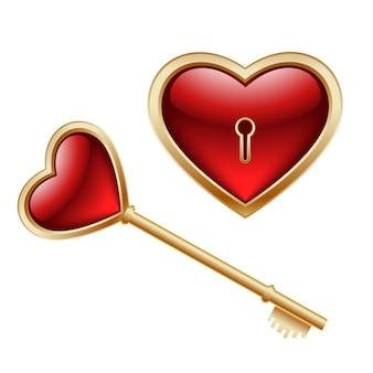 Chave e coração