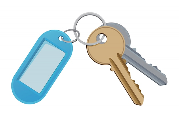 Chave para porta de acesso, segurança e suporte para chave