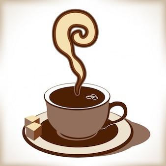 Chávena de café em tons marrons