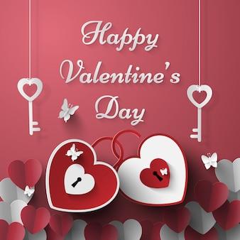 Chaves em forma de coração para o dia dos namorados