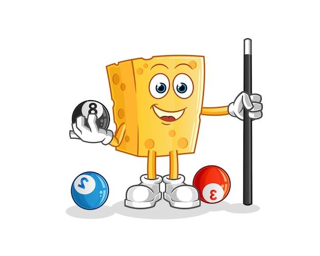 Cheese joga bilhar mascote