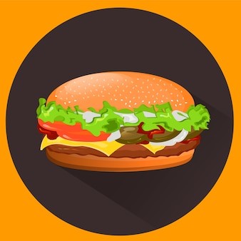 Cheeseburger saboroso.