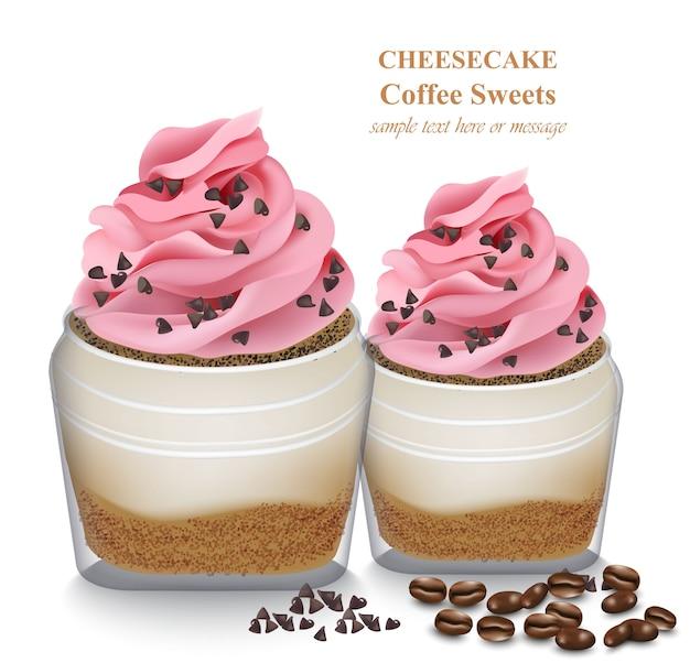 Cheesecake em um frasco