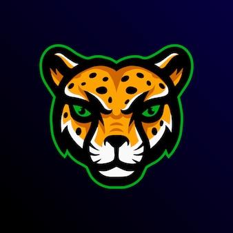 Cheetah mascot logo esport gaming.
