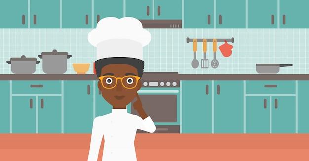 Chef, apontando o dedo indicador para cima.