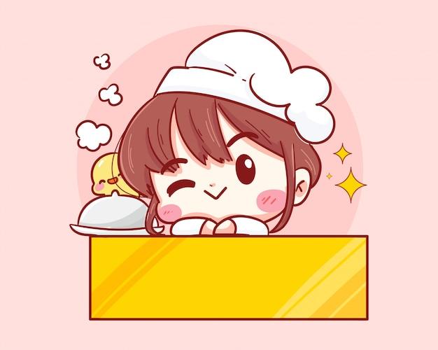 Chef bonitinho sorrindo e piscando