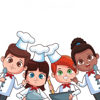 Chef crianças desenhos animados
