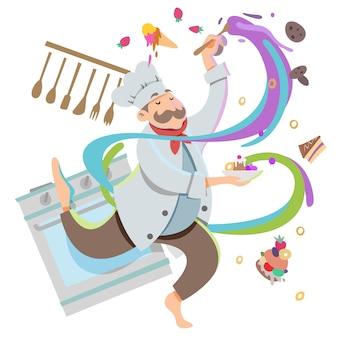 Chef de cozinha conceito