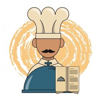 Chef de restaurante e design de jantar