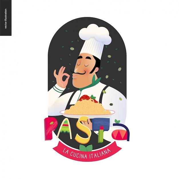 Chef de restaurante italiano