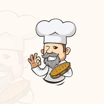 Chef de sanduíche caracter