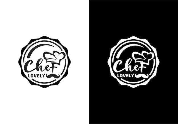 Chef favorito, adorável chef para inspiração de carimbo de design de logotipo de restaurante