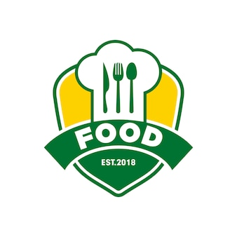 Chef food restaurant logo