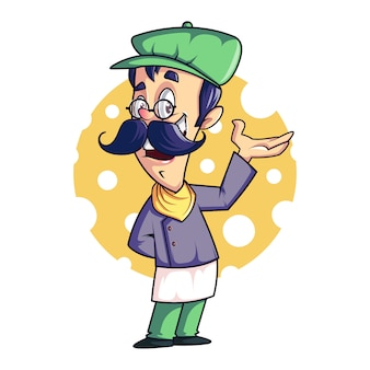Chef mascot / cartoon, vector design