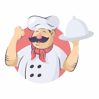 Chef vector icon ilustração