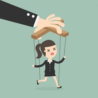 Chefe manipular um empregado