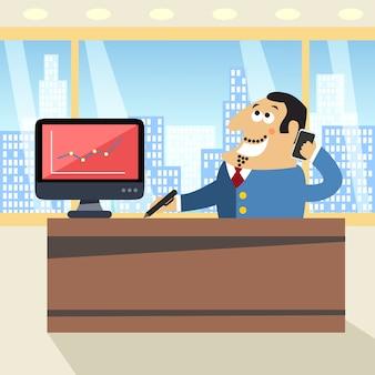 Chefe no escritório