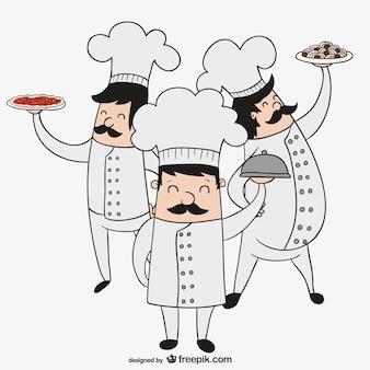 Chefs italianos desenho animado