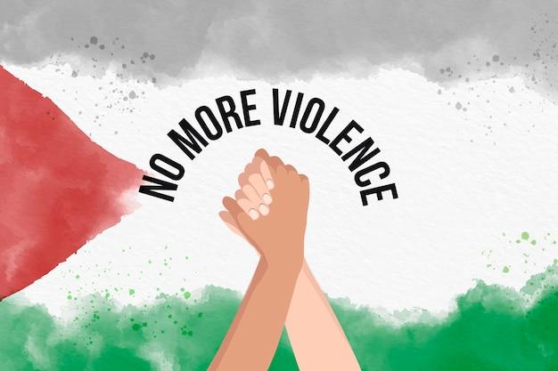 Chega de fundo de mensagem de violência