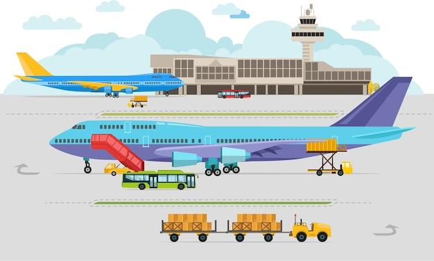 Chegadas no aeroporto e partidas