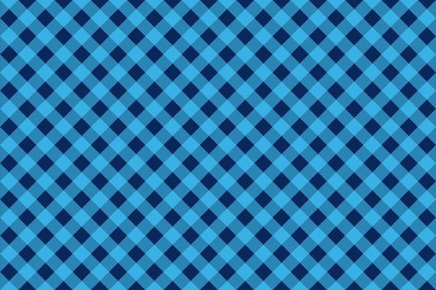 Cheque azul diagonal sem costura de fundo