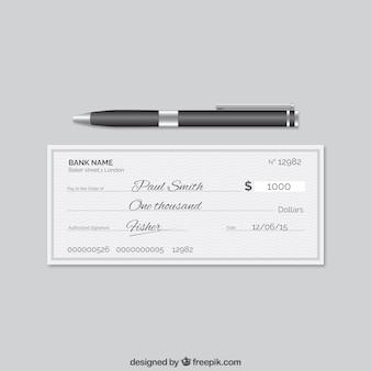 Cheque bancário elegante