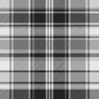 Cheque cinza tecido textura sem costura padrão