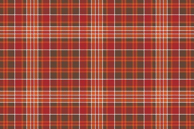 Cheque marrom vermelho pixel quadrado fundo sem emenda