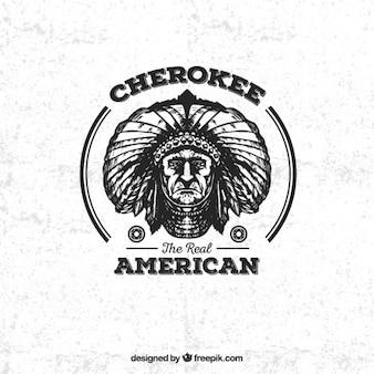 Cherokee emblema americano
