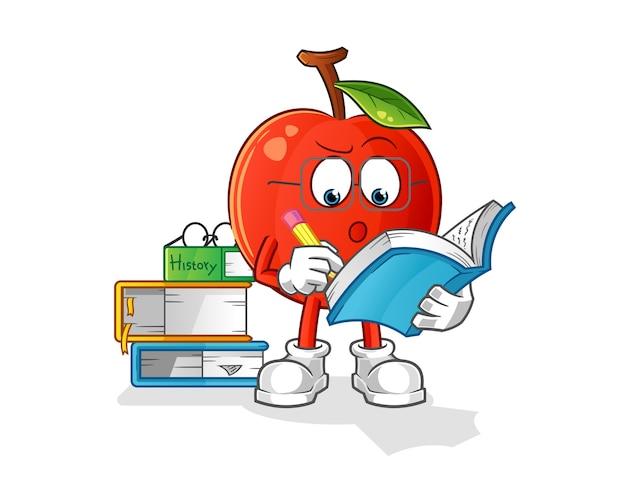 Cherry estudando ilustração de mascote