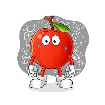 Cherry pensando muito. personagem de desenho animado
