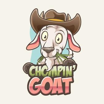 Chew chomping cabra cowboy