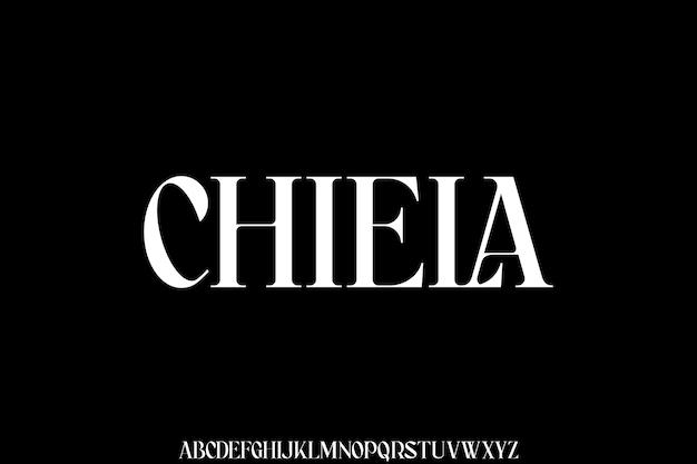Chiela, conjunto de alfabeto de fontes modernas de luxo