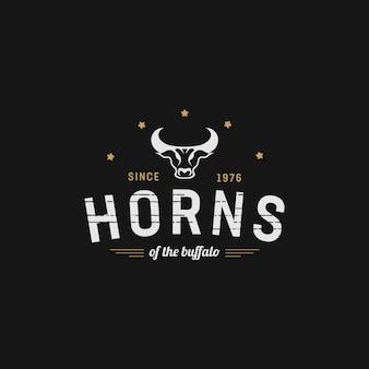 Chifre do design vintage de búfalo