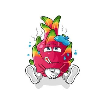 Chili doente. personagem de desenho animado