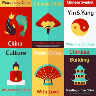 China mini cartazes