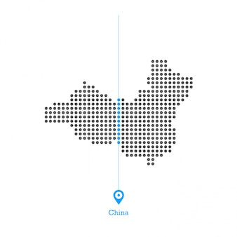 China pontilhada mapa vector design