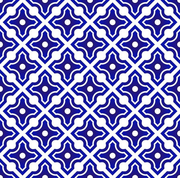 Chinês azul e branco
