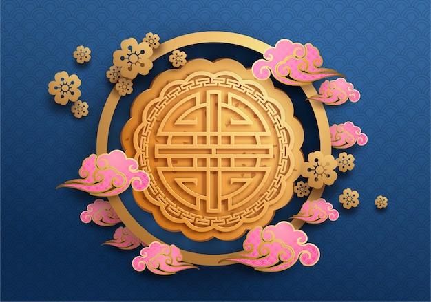 Chinês meados de outono festival plano de fundo. o caractere chinês