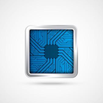 Chip eletrônico.